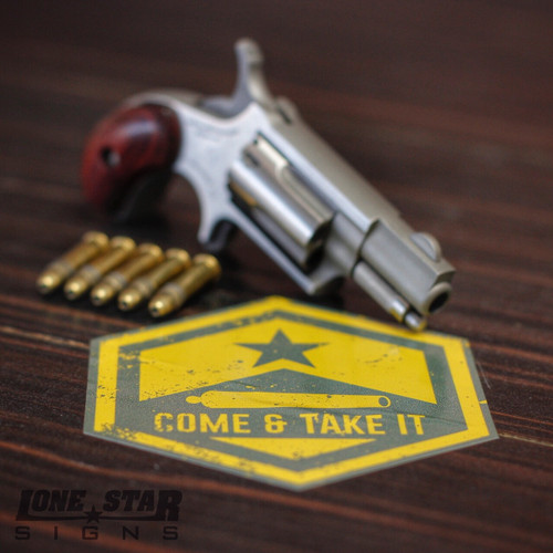 COME & TAKE IT Hexagon Sticker