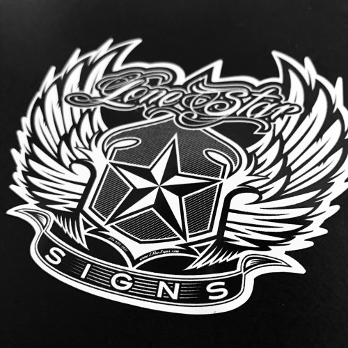 Lone Star Signs Feather Logo - Sticker