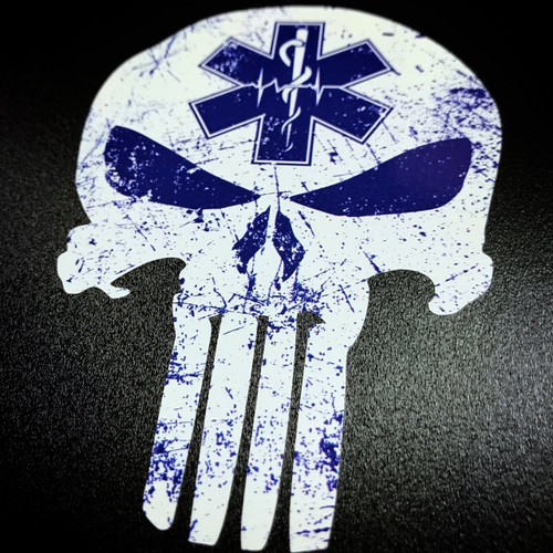 Paramedic Punisher Star of Life - Sticker