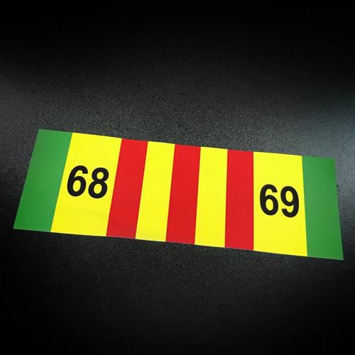Vietnam Ribbon 68-69 - Sticker
