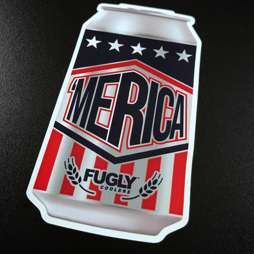 Fugly Coolers America Beer Can Sticker