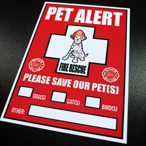 Pet Safety Alert - Sticker