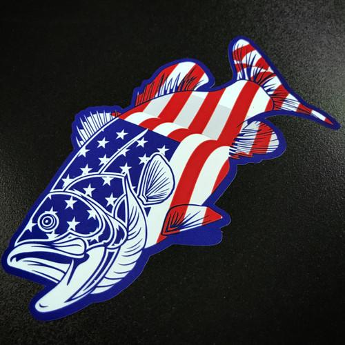 American Bass Fish - Sticker
