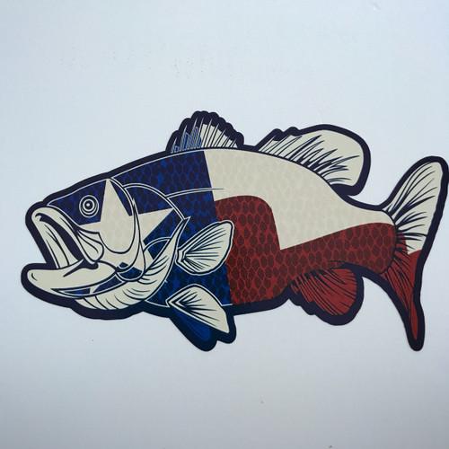 Texas Bass Fish - Sticker