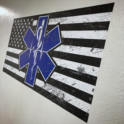 Paramedic Flag - Wall Decal