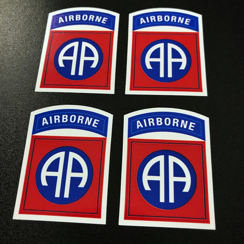 82nd Airborne Division (4 pack) - Stickers