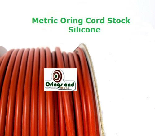 Metric O-ring Cord Red Silicone  3.53mm Price per Foot