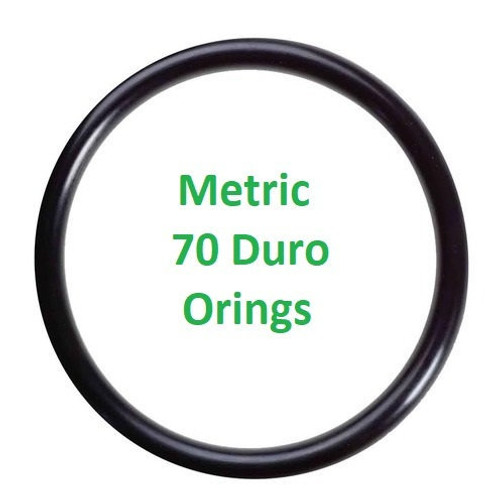 Metric Buna  O-rings 7 x 2mm Price for 25 pcs