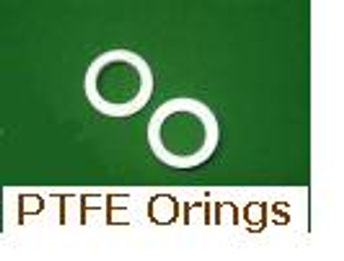 White PTFE Orings  Size 012    Price for 5 pcs