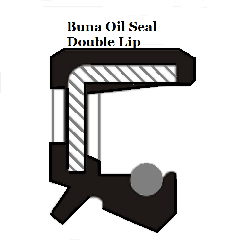 Oil Shaft Seal 10 x 25 x 7mm Double Lip  Ref# CR563082
