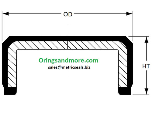 45mm OD x 7mm HT End Cap Seal   Price for 1 pc