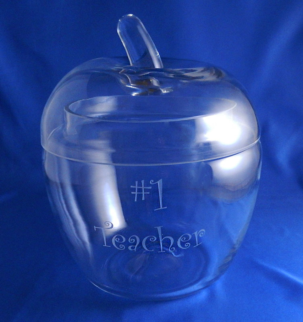 Personalized Glass Apple Jar