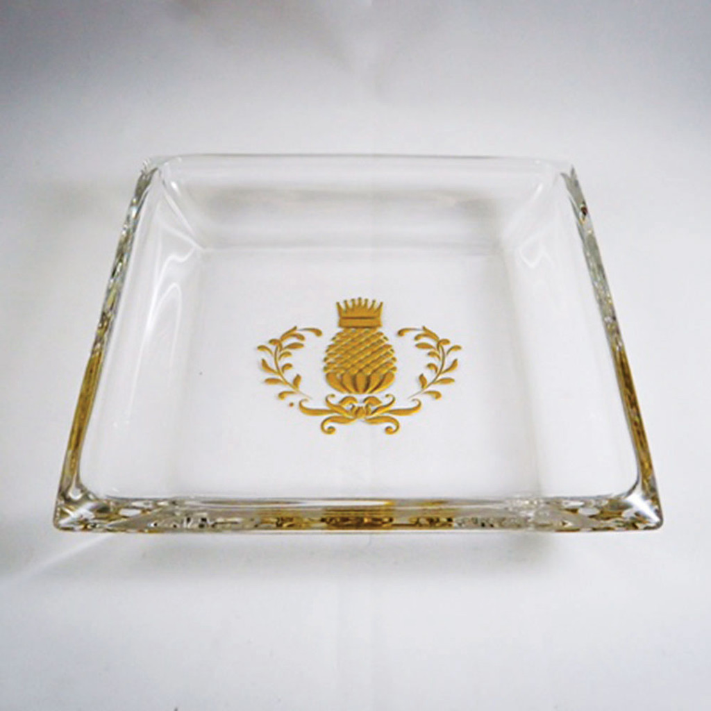 Mini Hancock Platter with Gold Pineapple Flourish