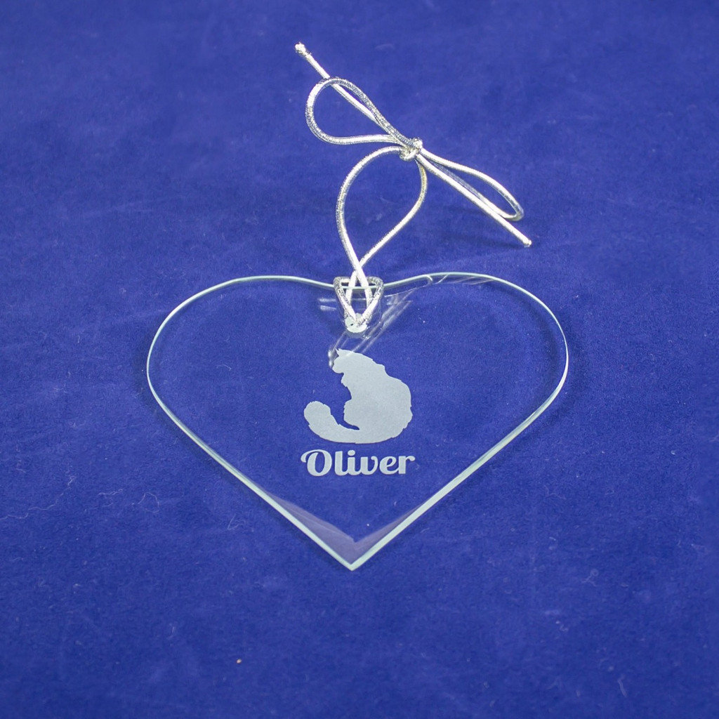 Personalized Heart Ornament With Cat Breed