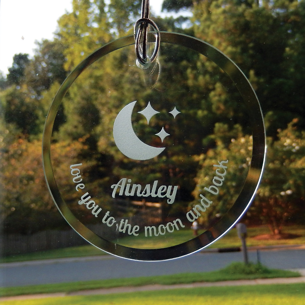 Personalized Love You to the Moon & Back Ornament