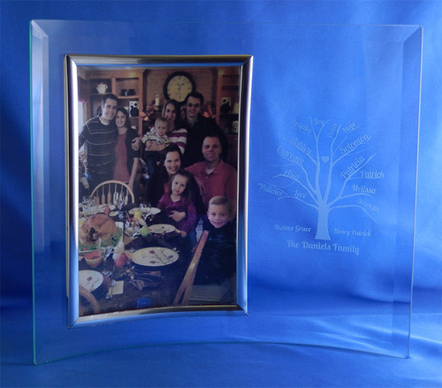 Wallverbs Family Tree Personalized Picture Frame Set: Personalized Our Family Pitcher Set