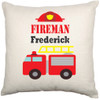 Personalised Nursery Cushion Cover (Firetruck)