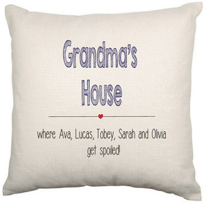 Personalised Cushion Cover (Grandma House)