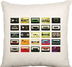 Cushion Cover (80s Cassette Tape)
