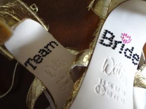 Shoe Stickers - Team Bride