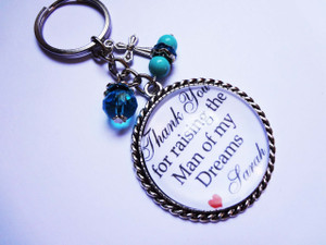Keyring - Personalised Bridal Party (Mother of the Groom)
