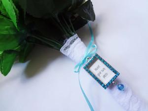 Bouquet Charm - DIY Rhinestones Blank  (Blue) -Jamie Design