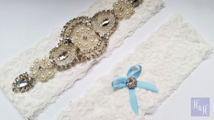 Personalised Garter Set- Melina design