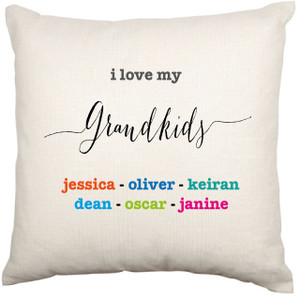 Personalised Cushion Cover (Modern Love Grandkids)