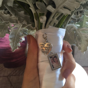 "Bouquet Charm - DIY - w/ ""you are always in my heart"" charm"