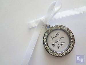 Bouquet Charm - DIY Rhinestones Blank (Silver) - Cindy Design