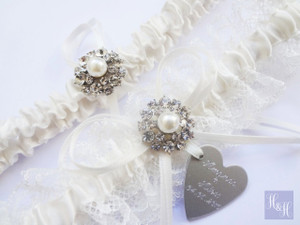 Personalised Garter Set - Miranda design