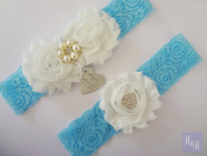 Personalised Garter Set - Megan design
