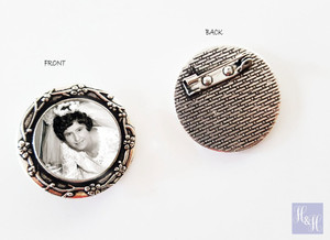 Bouquet Charm/ Brooch with Pin - Rochelle Design