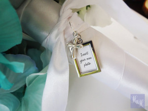 Bouquet Charm - Double Sided DIY - w/ cross