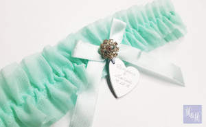 Personalised Garter - Mint