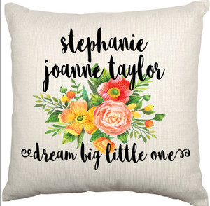 Personalised Nursery Cushion Cover (Maddison design)