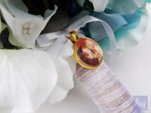 Bouquet Charm (Round) - Gold