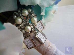 Bouquet Charm/Brooch - DIY Rhinestones & Pearls - (Triple) Edna Design