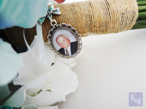 Bouquet Charm (Small Oval w/ bow)  - Liana Design