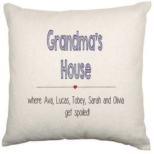 Personalised Cushion Cover (Grandma House)