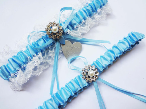 Personalised Garter Set- Mary design