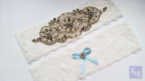 Personalised Garter Set- Margaret design