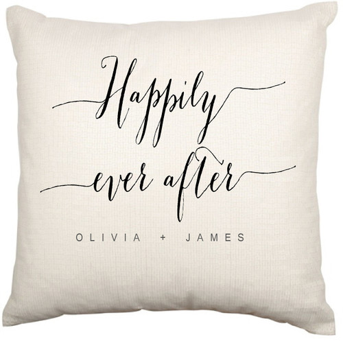 Personalised Couples Cushion Cover (Happily Ever After)