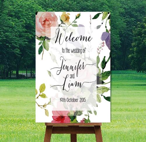 "Printable Wedding Sign - ""Miranda"" Design"