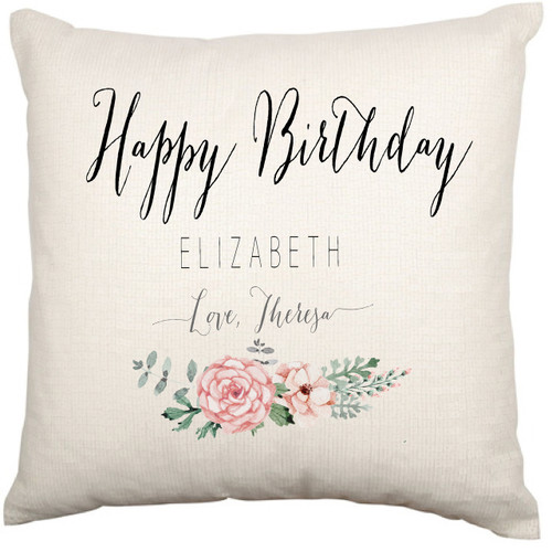 Personalised Birthday Cushion Cover