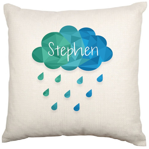 Personalised Baby Cushion Cover (Cloud)