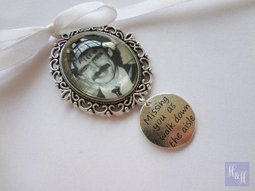 "Bouquet Charm (Oval w/ ""Missing you"" charm)- Indiana Design"