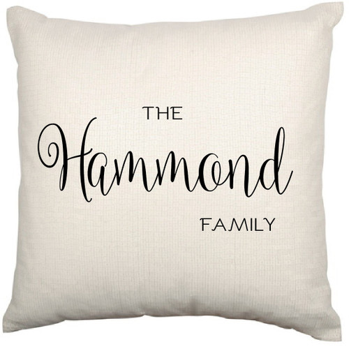 Personalised Cushion Cover (The Family)