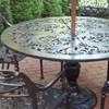"Filigree Design 49"" Diameter Dinning Table with Pedestal Leg"