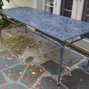 "Filigree Design 35"" x 84""Rectangular Dinning Table with 4 Post Legs"